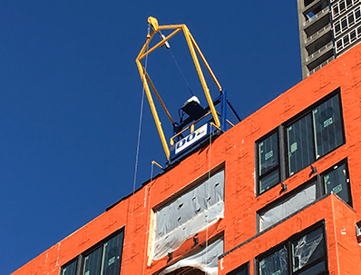 Rooftop Material Hoist installation