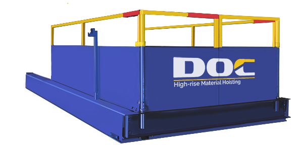 High-Rise Construction Loading Platform